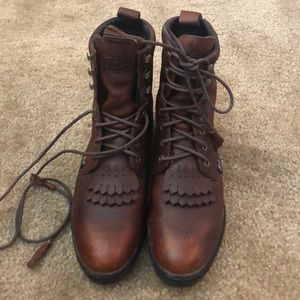 Justin Lace Up Ropers Cowboy Boots size 9.5